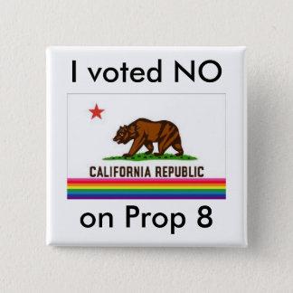 私は8のいいえ投票しませんでした 5.1CM 正方形バッジ