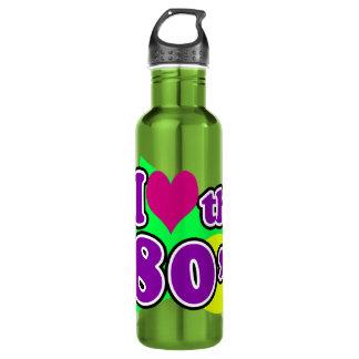 私は80年代の幾何学的なネオン八十年代のパーティを愛します ウォーターボトル