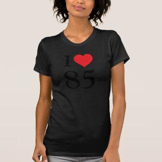 私は85を愛します Tシャツ