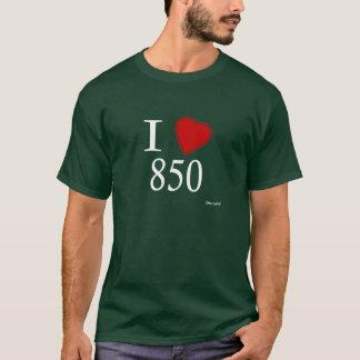 私は850 Tallahasseeを愛します Tシャツ