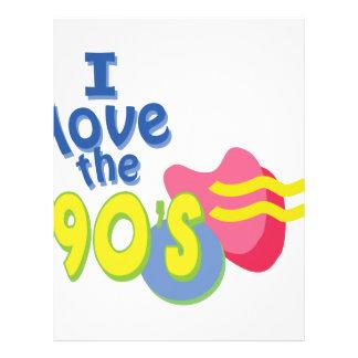私は90年代を愛します レターヘッド