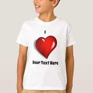 私は-あなたのカスタムな文字を愛します Tシャツ