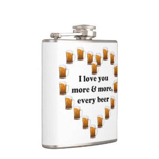 私は、あらゆるビールますます愛します フラスク