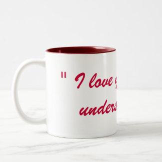 """""""私は""""です控え目な表現愛します ツートーンマグカップ"""