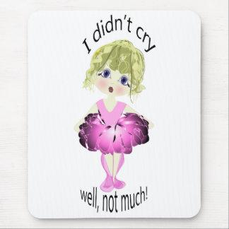 私は、よく、それほど叫びませんでした! かわいいピンクのバレリーナ マウスパッド