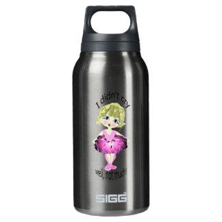 私は、よく、それほど叫びませんでした! かわいいピンクのバレリーナ 断熱ウォーターボトル