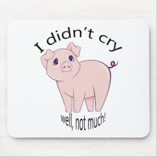 私は、よく、それほど叫びませんでした! かわいく豚のような芸術 マウスパッド