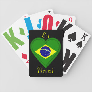 私は-をポルトガル語の…ブラジル- EU amoブラジル愛します バイスクルトランプ