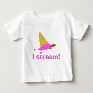 私は、アイスクリーム叫びます ベビーTシャツ