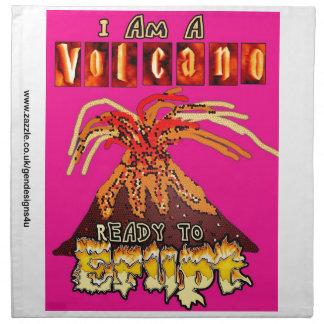 私は-ガーリーな版を噴火すること準備ができた火山です ナプキンクロス