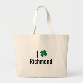 私は(シャムロック)リッチモンドSt patricks dayを愛します ラージトートバッグ