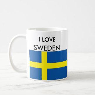 私は、スウェーデン愛します コーヒーマグカップ