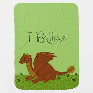私は-ドラゴン-変えます色を信じます ベビー ブランケット