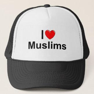私は(ハートの)イスラム教を愛します キャップ