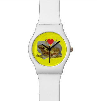 私は(ハートの)バナナのパンケーキ…タイの通りの食糧を愛します 腕時計