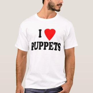 私は(ハートの)パペットを愛します Tシャツ