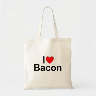 私は(ハートの)ベーコンを愛します トートバッグ