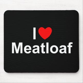 私は(ハートの)ミートローフを愛します マウスパッド