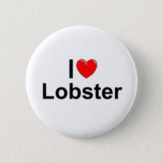 私は(ハートの)ロブスターを愛します 5.7CM 丸型バッジ