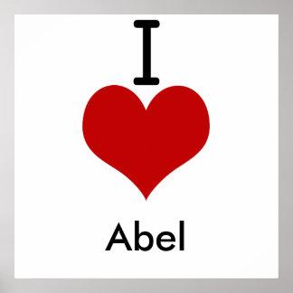 私は(ハート)アベルを愛します ポスター