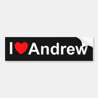 私は(ハート)アンドリューを愛します バンパーステッカー