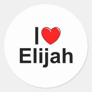 私は(ハート)エリヤを愛します ラウンドシール