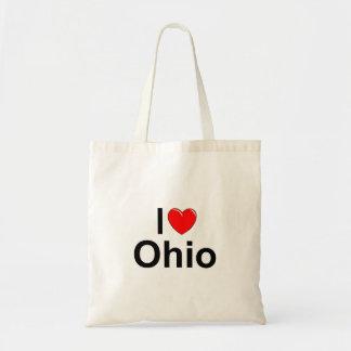 私は(ハート)オハイオ州を愛します トートバッグ