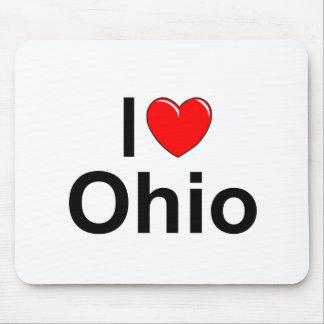 私は(ハート)オハイオ州を愛します マウスパッド