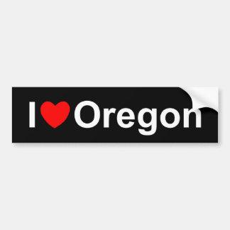 私は(ハート)オレゴンを愛します バンパーステッカー