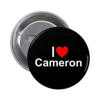 私は(ハート)カメロンを愛します 5.7CM 丸型バッジ