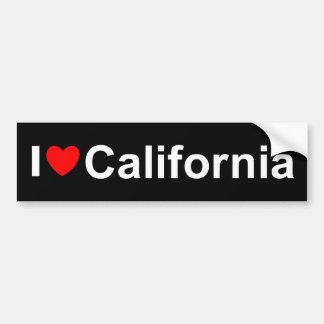 私は(ハート)カリフォルニアを愛します バンパーステッカー