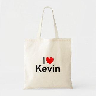 私は(ハート)ケビンを愛します トートバッグ