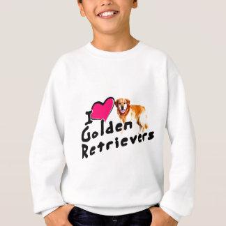 私は(ハート)ゴールデン・リトリーバーを愛します スウェットシャツ