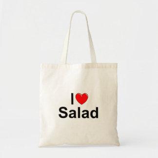 私は(ハート)サラダを愛します トートバッグ