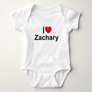 私は(ハート)ザカリーを愛します ベビーボディスーツ