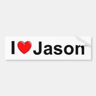 私は(ハート)ジェイソンを愛します バンパーステッカー