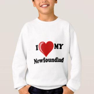 私は(ハート)ニューファウンドランド私の犬を愛します スウェットシャツ