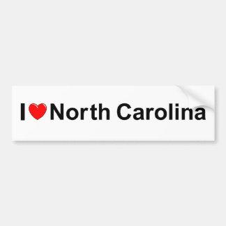 私は(ハート)ノースカロライナを愛します バンパーステッカー