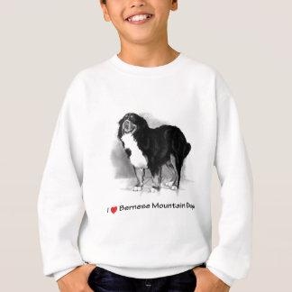 私は(ハート)バーニーズ・マウンテン・ドッグを愛します スウェットシャツ