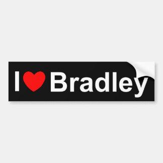 私は(ハート)ブラッドリーを愛します バンパーステッカー