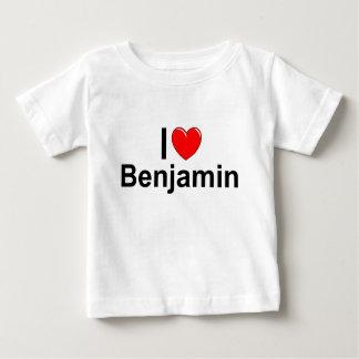 私は(ハート)ベンジャーミンを愛します ベビーTシャツ