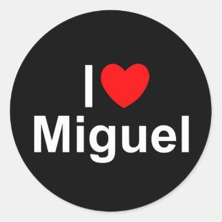 私は(ハート)ミゲルを愛します ラウンドシール