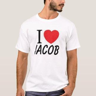 私は(ハート)ヤコブを愛します Tシャツ