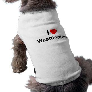 私は(ハート)ワシントン州を愛します ペット服