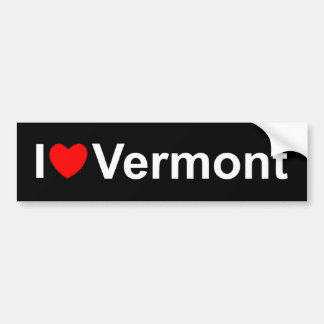 私は(ハート)ヴァーモントを愛します バンパーステッカー