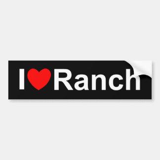 私は(ハート)牧場を愛します バンパーステッカー