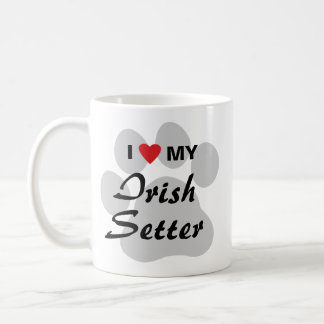 私は(ハート)私のアイリッシュセッターを愛します コーヒーマグカップ