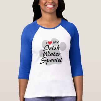 私は(ハート)私のアイリッシュ・ウォーター・スパニエルのワイシャツを愛します Tシャツ