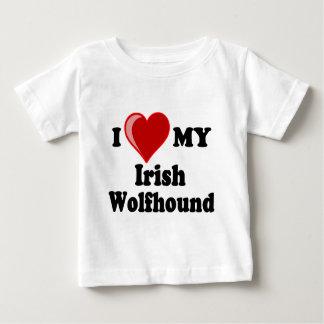 私は(ハート)私のアイリッシュ・ウルフハウンド犬を愛します ベビーTシャツ