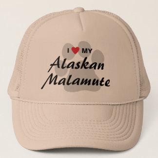 私は(ハート)私のアラスカンマラミュートを愛します キャップ